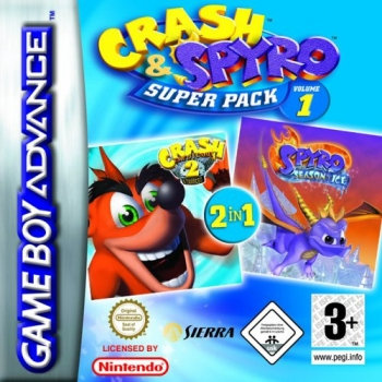 2 in 1 - Spyro - Season of Ice & Crash Bandicoot 2 - N-Tranced  Game