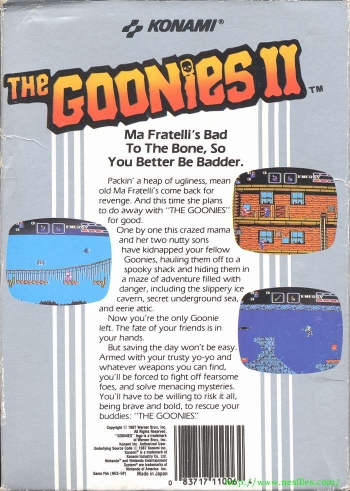 Goonies II, The  Game