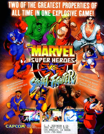 Marvel Super Heroes Vs. Street Fighter  Game
