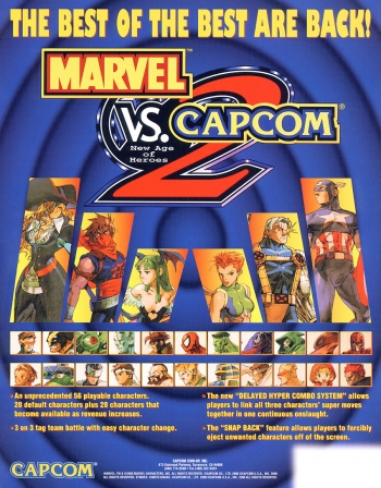 Marvel Vs. Capcom 2 New Age of Heroes  Game