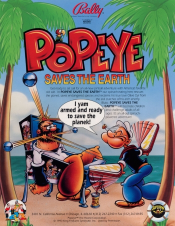 Popeye Saves The Earth  Game