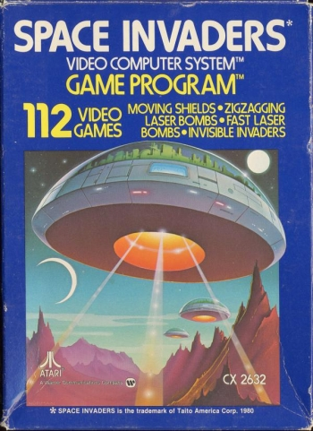 Atari 2600 space invaders cartirdge stock photo download image.