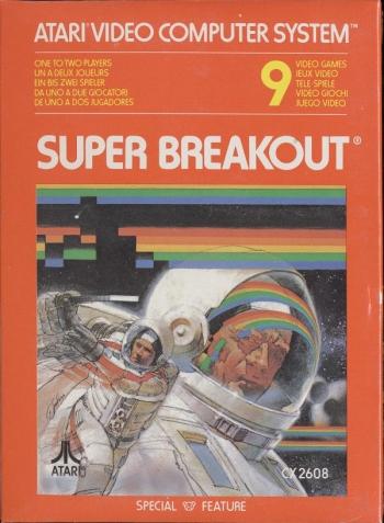 Super Breakout (Paddle) (1982 - 1981) (Atari, Carol Shaw, Nick