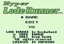 Hyper Lode Runner Highscore Save ROM hack