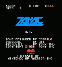 Zanac MMC5 Patch ROM hack