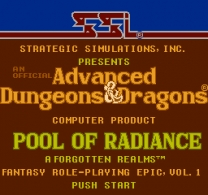 Advanced Dungeons & Dragons - Pool of Radiance  ROM