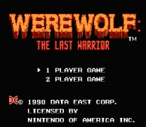 Werewolf - The Last Warrior  ROM